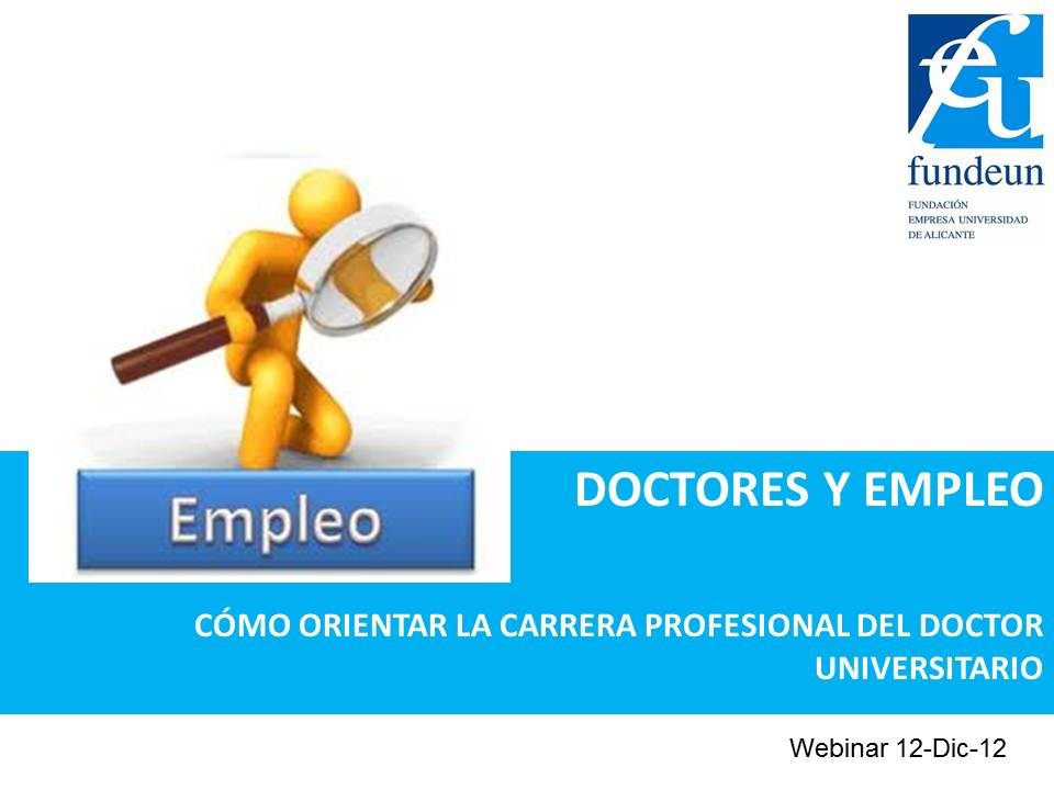 Seminario on-line Doctores y Empleo
